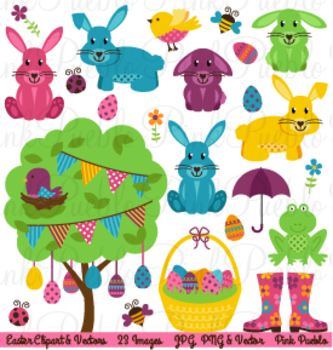 Easter and Spring Clipart Clip Art