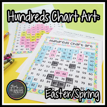 Hundreds Chart Art: Easter and Spring (Mystery Picture)