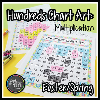 x Easter & Spring Hundreds Chart Art (Mystery Picture): MU