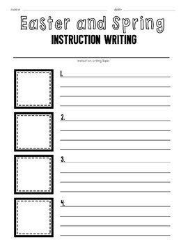 Easter and Spring Instruction Writing Prompts