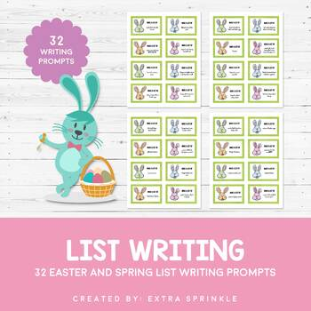 Easter and Spring List Writing Prompts