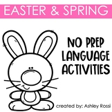No Prep Easter and Spring Speech Therapy