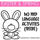 Easter and Spring No Prep Language FREE | Speech Therapy