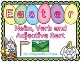 Easter and Spring Noun, Verb and Adjective Sort #easterbunny