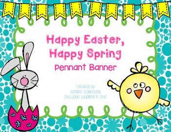 Easter and Spring Pennant Banner