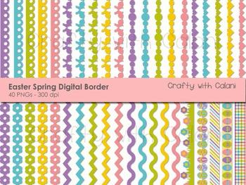 Easter and Spring Theme Digital Border Clip Art Set