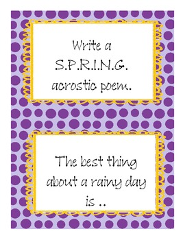 Easter and Spring Writing Prompts and Paper Grades K-4