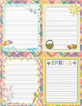 Spring and Easter Writing Templates
