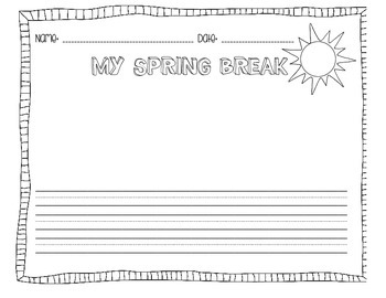 Easter and Spring break writing prompts