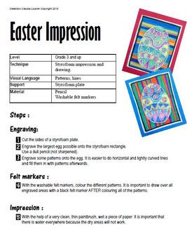Easter Art Activity for Kids - Easter Art Lesson - Styrofoam Impression