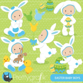 Easter baby boy clipart commercial use, vector graphics, digital - CL644