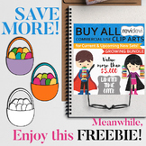 Easter basket clip art freebie by Revidevi