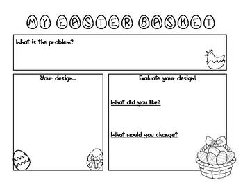 Easter basket design STEM
