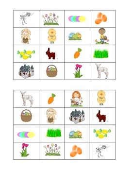 Easter bingo- Spanish/English
