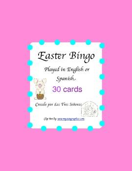 Easter bingo- Spanish/English