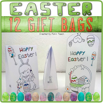 EASTER bundle - ✀ Cut, color, glue, draw or write - Craftivities and poetry !