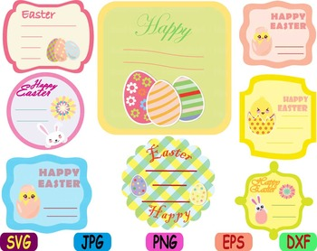 Easter bunny Labels clip art svg Frame tags label Greeting card baby shower -90s