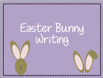 Easter bunny Writing