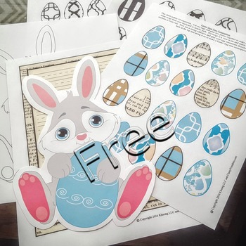 Easter bunny ears headpiece and FREE coloring pages and egg mobile