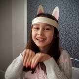 Easter bunny ears headpiece and FREE coloring pages and eg