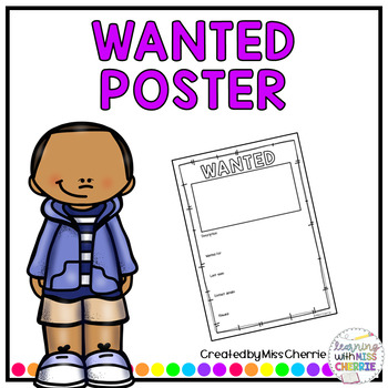Wanted Poster FREEBIE