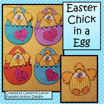 Spring Craft, Chick in a Egg Pocket Craft