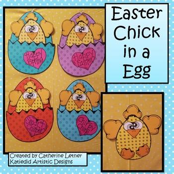 Spring Craft, Chick in a Egg Pocket Craft