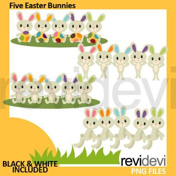 Easter clip art bundle (bunnies, eggs, basket)
