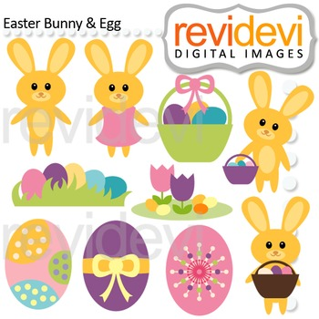Easter clipart / Easter Bunny and Egg