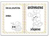 Easter colouring cards in French 3