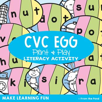Easter Egg Cvc Words Teaching Resources   Teachers Pay Teachers
