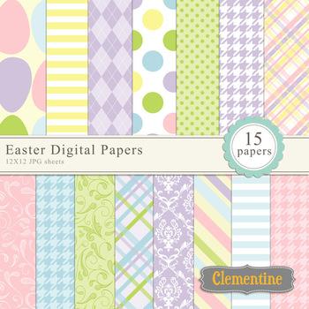 Easter digital papers