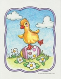Easter duck coloring page. (Free)