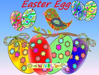 Easter Activities - Frames - Writing paper - Spring - Clip Art