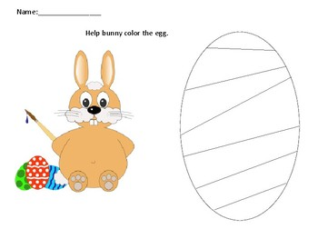 Easter egg color activity