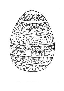 Easter egg coloring page bundle