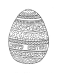 Easter egg coloring page bundle