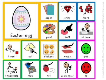 FREEBIE: Easter egg decorating: Communication board (Symbolstix)