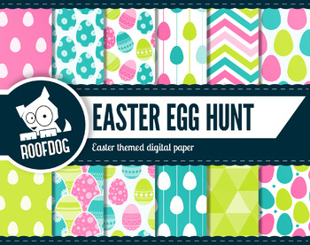 Easter egg hunt digital paper