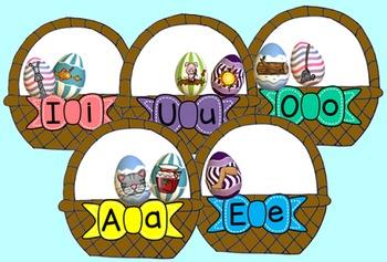 Easter egg middle vowel sort