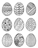 Easter egg mini coloring page