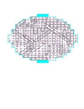 Easter egg-shaped word search puzzle for fun in all classes