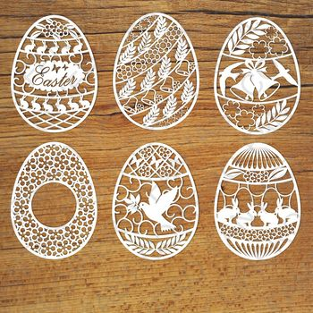 Easter eggs SVG files for Silhouette Cameo and Cricut