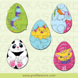 Easter eggs animals for coloring