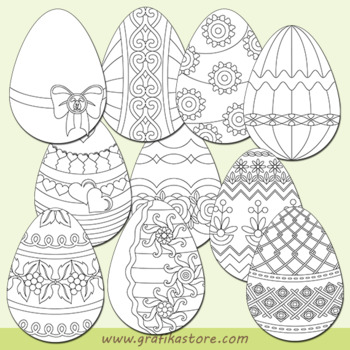 Easter eggs for coloring