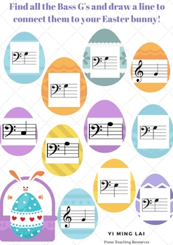 Easter eggs note finding activity