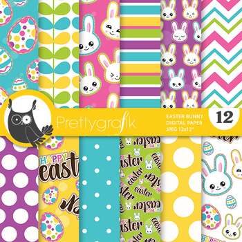 Easter Emoji Papers Commercial Use Scrapbook Papers Ps850 By