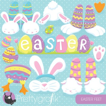 Easter feet clipart commercial use, vector graphics, digital - CL823