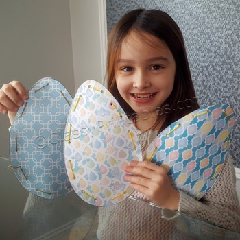 Easter fine motor skills egg weaves and FREE coloring page