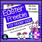 Easter for Kinder Kids FREE